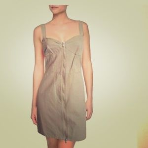 Marc by Marc Jacobs khaki zip front dress sz 4
